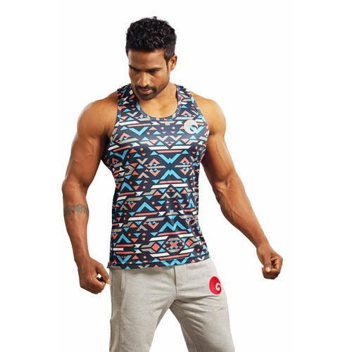 9ac049913954 Mens Gym Tank - Criss Cross Black Sublimated Gym Tank Manufacturer from  Mumbai