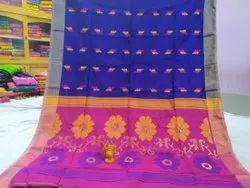 Cotton Silk Saree with Blouse Piece, Length: 6.3 m