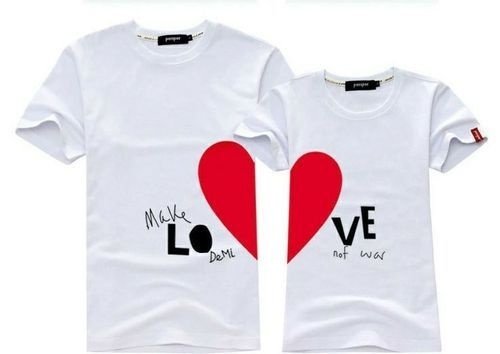 6fa81c978d6 Printed Men And Women Couple T-Shirts