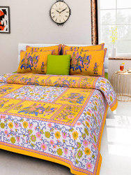 Traditional Print Cotton Bed Sheet