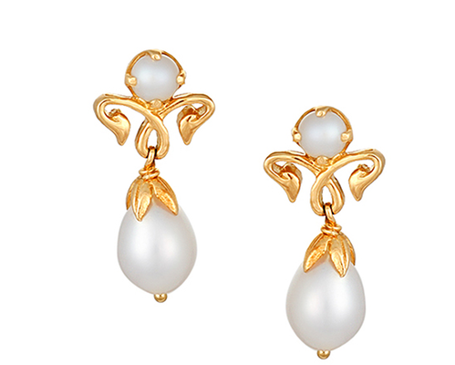 500149dtaabapl Yellow Gold Pearl Drop Earrings At Rs 14742 Piece