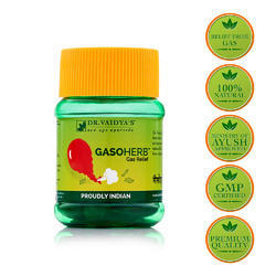 dr vaidya s gasoherb pills for gas relief packaging type