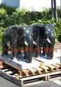 Marble Black Elephant Statue