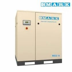 Mark MSS 11 Oil Injected Screw Compressor, Weight: 235, 235 kg