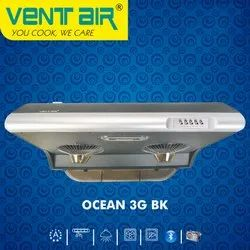 OCEAN 3G BK Ventair Kitchen Chimney