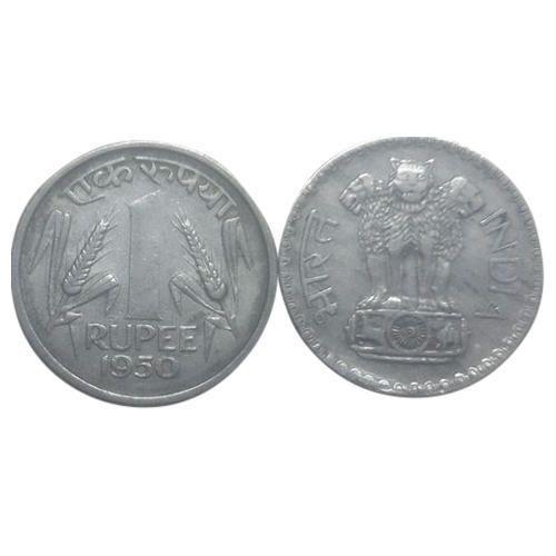 Silver 1950 Half Ru Coin