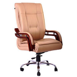 Light Pink Leather Executive Chair Rs