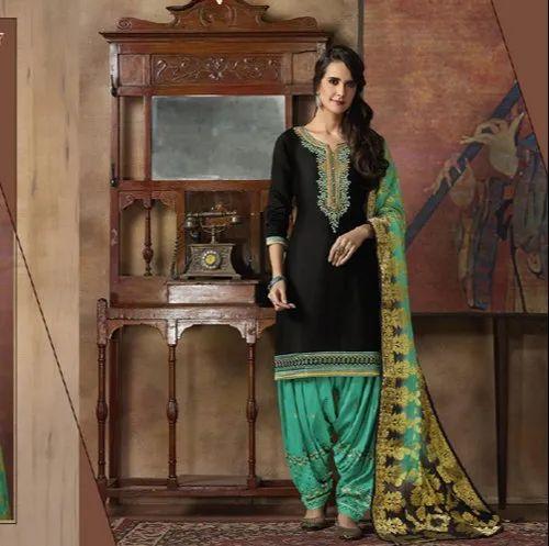 Cotton Beautiful Women Patiala Dresses