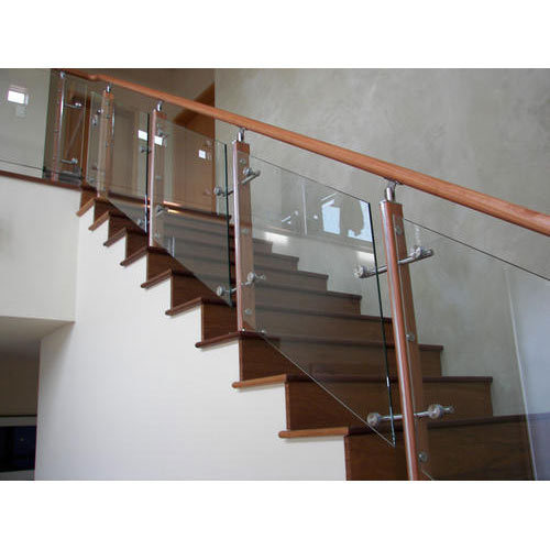 Wooden Glass Railing