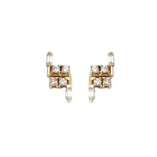 4423e6048 Designer Small Gold Tops Earring at Rs 23450 /pair(s) | Gold ...
