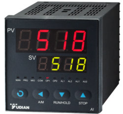 Black YUDIAN AI-702M Dual Channel Indicator / Scanner, Industrial and Laboratory