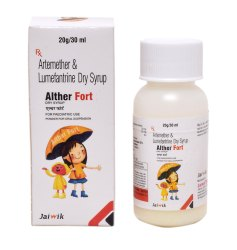 Artemether 20 mg & Lumafantrine 120mg/5mL D/S Syrups, Packaging Size: 60mL