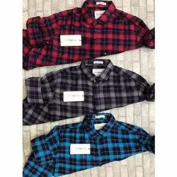 Mr Signature Casual Wear Mens Cotton Check Shirt, Packaging Type: Packet, Handwash