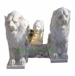 Lion White Marble Statues