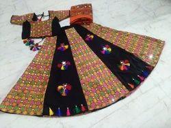 Rayon Mirror Work Navratri Garba Dress Chaniya Choli, Dry clean