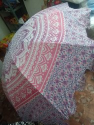 Mandala Tapestry Round Garden Umbrella