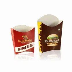 Printed Paper French Fry Boxes, Capacity: 50 Gram-200 Gram