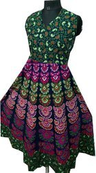 Regular Wear Multi Colour Girls One Piece Designer Long Jaipuri Frock