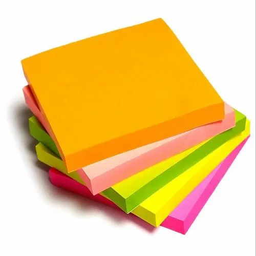 BSNS-33,Bambalio Neon Colour Sticky Note Pad - 3 x 3 inch,100 Sheets Each.  at Rs 75/pack | Sticky Note Pad | ID: 21133048048