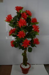 Artificial Plant With Red Flowers
