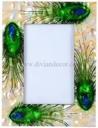 Peacock White Mother Of Pearl Picture Frames