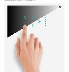 Phlipton 10 A WiFi Modular Touch Switch Panel, Switch Size: 2 Module