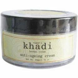 Vagad's Khadi Face Cream Khadi Herbal Anti Ageing Cream, for Personal , packaging Size: 50 G / 1.75 Oz