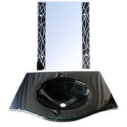 Black Glass Wash Basin