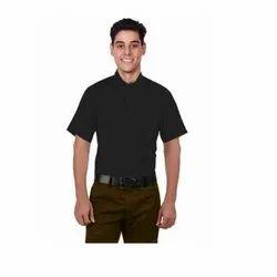 UB-SHI-AUTO-13 Black Half Sleeve Uniform Shirt For Men