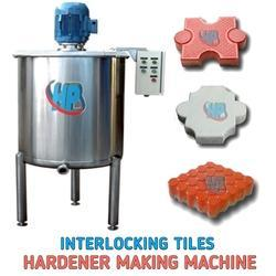 Interlocking Tiles Hardener Machine