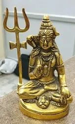 Metal Gold Plated ShivJi