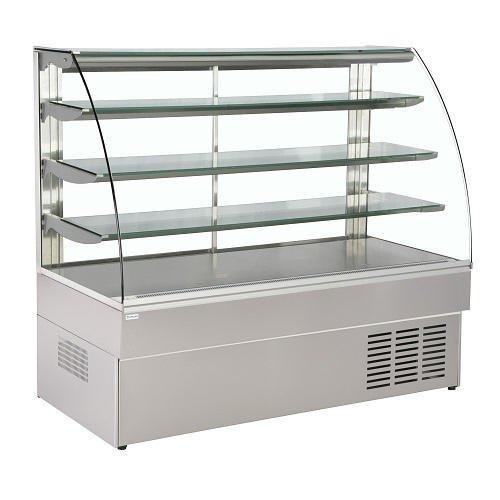 SS and Glass Cake Display Counter