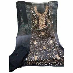 Unstitched Party Wear Gota Patti Suit