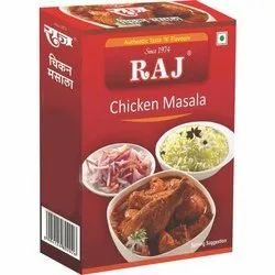 Raj Chicken Masala, Packaging Type: Box, Packaging Size: 50 g
