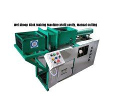 Manual Cutting Multi Cavity Wet Dhoop Stick Making Machine