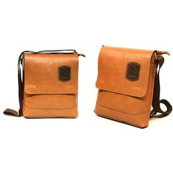 Plain Brown Trip Leather Messenger Bag, Size: 11w X 10h X 2b