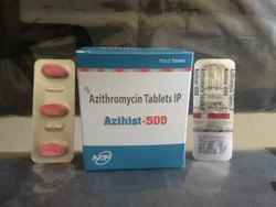 Azihist-500 Azithromycin 500mg Tablets, 30 Tablets