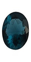 Blue Glass Tanzanite Gemstone