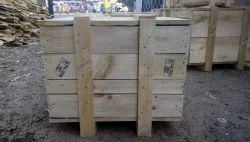 Moisture Proof Rectangle Wooden Packing Pallet Box, for Shipping, Box Capacity: 201-400 Kg