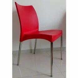 Neelkamal Red Plastic Chair, for Restaurant