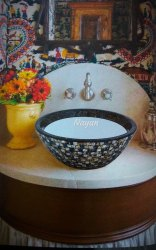 Designer Mozaic Resin Bowl, Packaging Type: Box