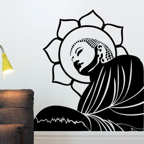 Artistic Buddha Wall Decal