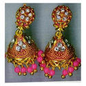 Gold Plated Imitation Fancy Earrings