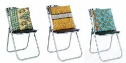 Cotton Kantha Quilted Chair Back Cushion