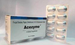 Fungal Diastase   Papain   Simethicone   Vit B1   Nicotinamide Tablets