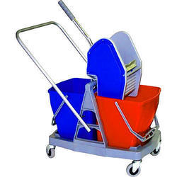 Wringer Double Bucket Trolley