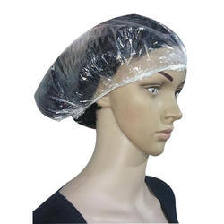 White Shower Cap, For Home use,Bath and Spa use, Size: 21
