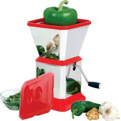 Stainless Steel And Plastic Vegetable Chopper, For Kitchen