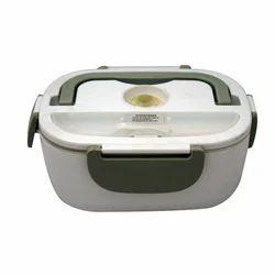 Plastic White Electric Heatable Lunch Box