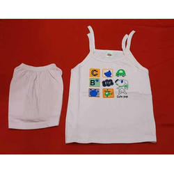 Cotton White Baby Girl Wear Suit